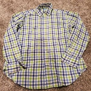 J McLaughlin Gingham Plaid Button Down Shirt L